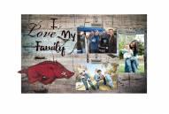 Arkansas Razorbacks I Love My Family Clip Frame