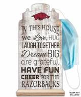 Arkansas Razorbacks In This House Mask Holder