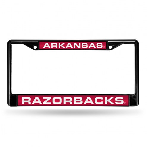 Arkansas Razorbacks Laser Black License Plate Frame