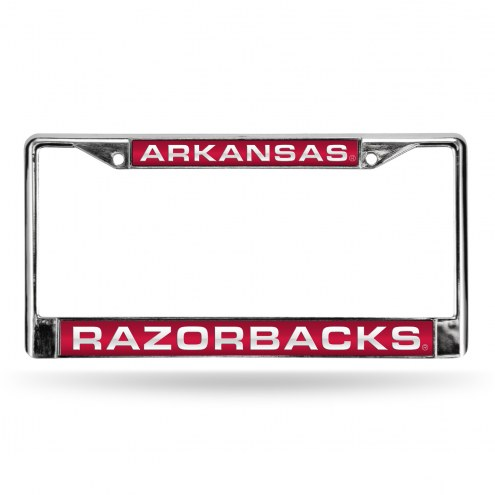 Arkansas Razorbacks Laser Chrome License Plate Frame