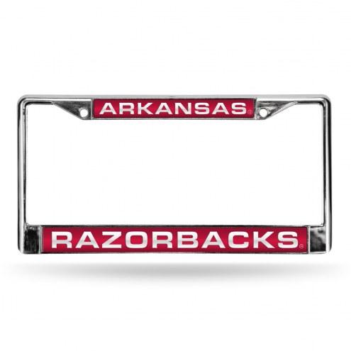 Arkansas Razorbacks Laser Chrome License Plate Frame