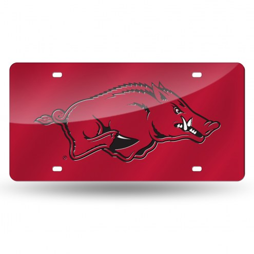 Arkansas Razorbacks Laser Cut License Plate