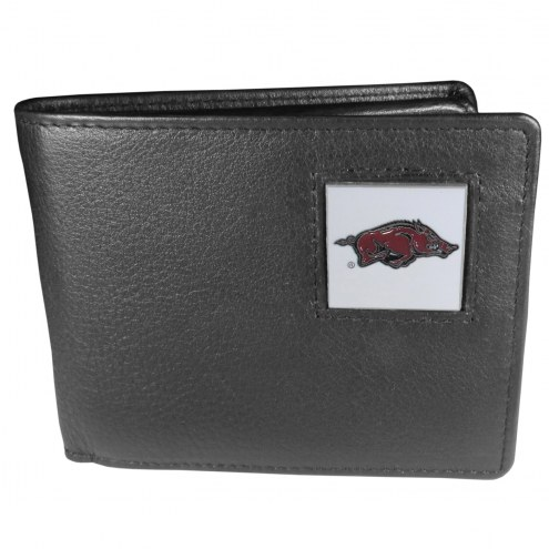Arkansas Razorbacks Leather Bi-fold Wallet in Gift Box