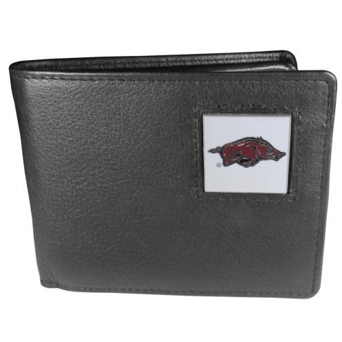 Arkansas Razorbacks Leather Bi-fold Wallet in Gift Box