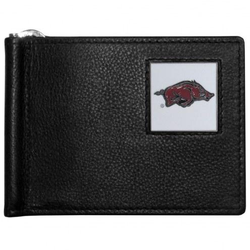 Arkansas Razorbacks Leather Bill Clip Wallet