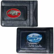 Arkansas Razorbacks Leather Cash & Cardholder