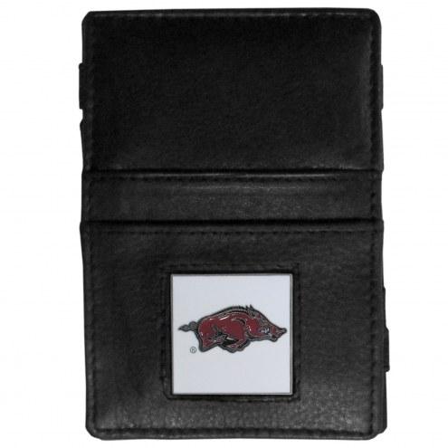 Arkansas Razorbacks Leather Jacob's Ladder Wallet