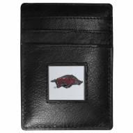 Arkansas Razorbacks Leather Money Clip/Cardholder