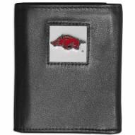 Arkansas Razorbacks Leather Tri-fold Wallet