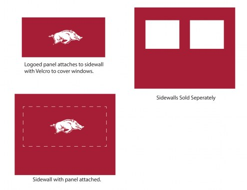 Arkansas Razorbacks Logo Canopy Sidewall Panel (Attaches to Window Sidewall)