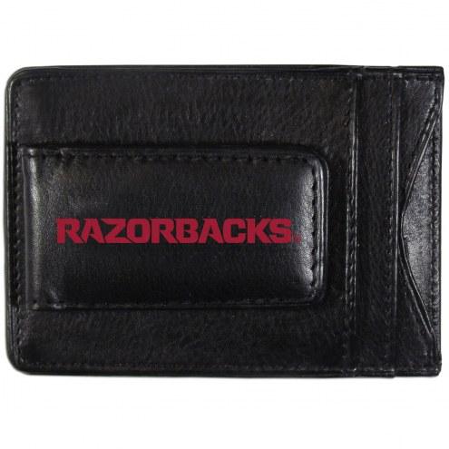 Arkansas Razorbacks Logo Leather Cash and Cardholder