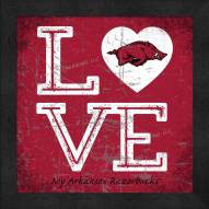 Arkansas Razorbacks Love My Team Color Wall Decor