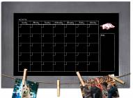Arkansas Razorbacks Monthly Chalkboard with Frame