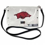 Arkansas Razorbacks Clear Envelope Purse
