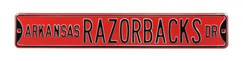 Arkansas Razorbacks NCAA Embossed Street Sign