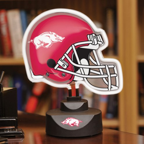 Arkansas Razorbacks Neon Helmet Desk Lamp
