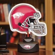 Arkansas Razorbacks Neon Helmet Desk Lamp
