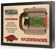 Arkansas Razorbacks 25-Layer StadiumViews 3D Wall Art