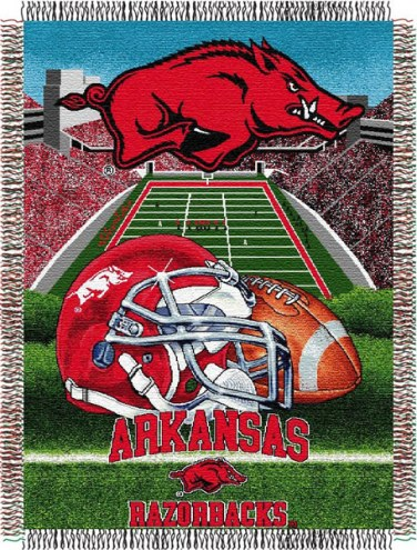 Arkansas Razorbacks NCAA Woven Tapestry Throw Blanket