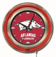 Arkansas Razorbacks Neon Clock