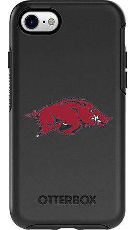Arkansas Razorbacks OtterBox iPhone 8/7 Symmetry Black Case