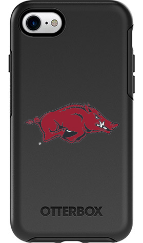 Arkansas Razorbacks OtterBox iPhone 8/7 Symmetry Black Case