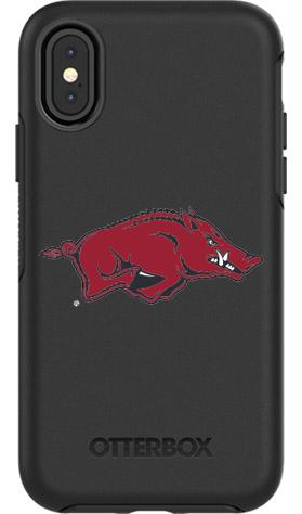 Arkansas Razorbacks OtterBox iPhone X Symmetry Black Case