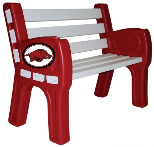 Arkansas Razorbacks Park Bench