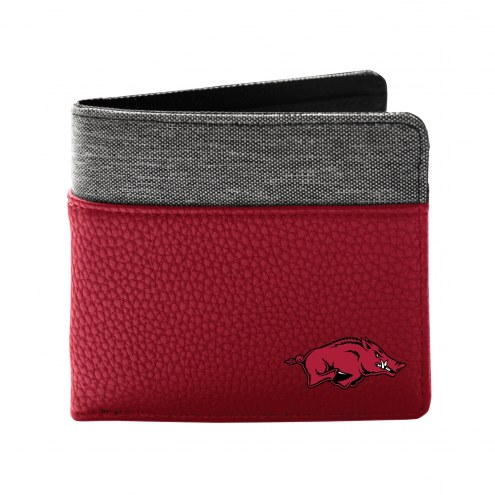 Arkansas Razorbacks Pebble Bi-Fold Wallet