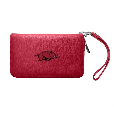 Arkansas Razorbacks Pebble Organizer Wallet