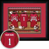 Arkansas Razorbacks Personalized Locker Room 13 x 16 Framed Photograph