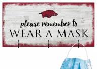 Arkansas Razorbacks Please Wear Your Mask Sign