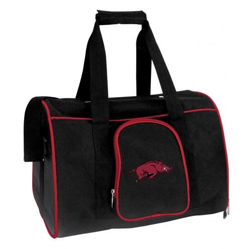Arkansas Razorbacks Premium Pet Carrier Bag