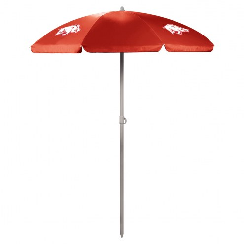 Arkansas Razorbacks Red Beach Umbrella