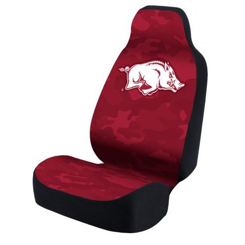 Arkansas Razorbacks Red Camo Universal Bucket Car Seat Cover