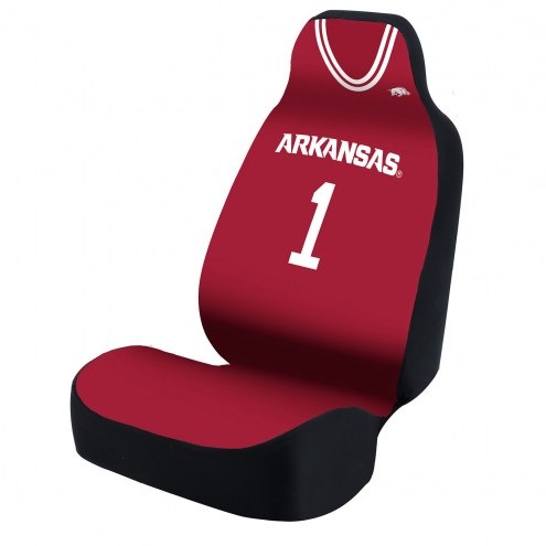 Arkansas Razorbacks Red Jersey Universal Bucket Car Seat Cover