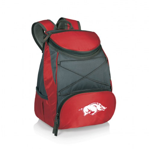 Arkansas Razorbacks Red PTX Backpack Cooler