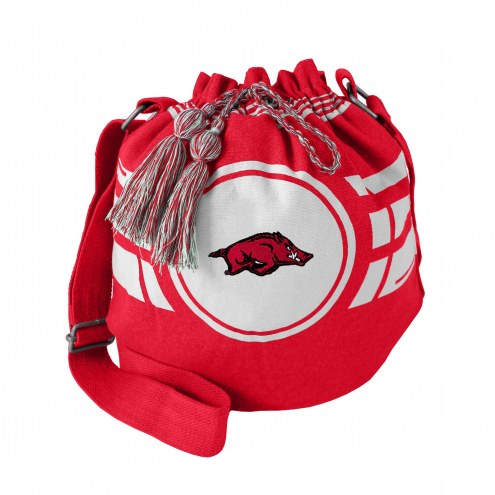 Arkansas Razorbacks Ripple Drawstring Bucket Bag