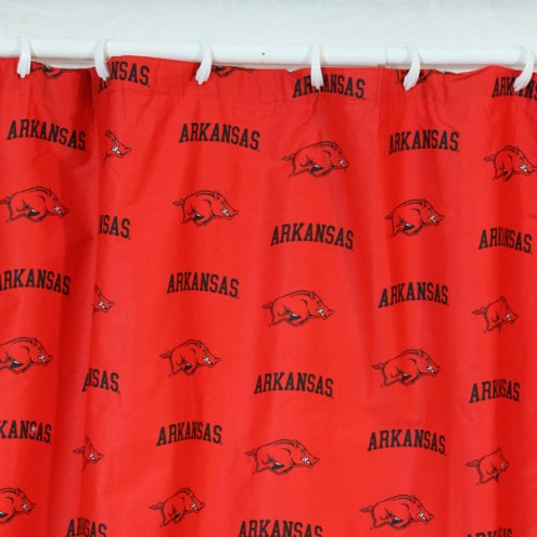 Arkansas Razorbacks Shower Curtain