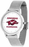 Arkansas Razorbacks Silver Mesh Statement Watch