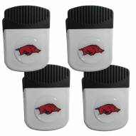 Arkansas Razorbacks 4 Pack Chip Clip Magnet with Bottle Opener