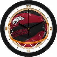 Arkansas Razorbacks Slam Dunk Wall Clock