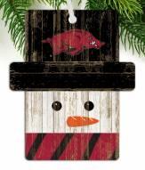 Arkansas Razorbacks Snowman Ornament