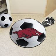 Arkansas Razorbacks Soccer Ball Mat