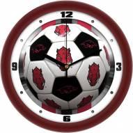 Arkansas Razorbacks Soccer Wall Clock