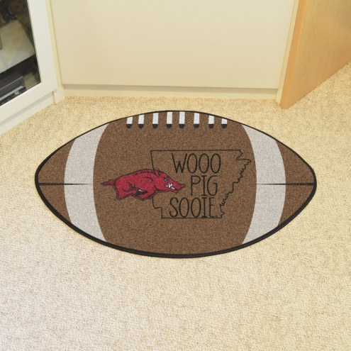 Arkansas Razorbacks Southern Style Football Floor Mat