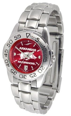 Arkansas Razorbacks Sport Steel AnoChrome Women's Watch