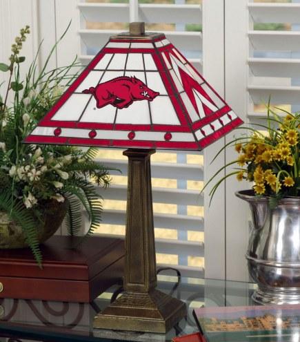 Arkansas Razorbacks Stained Glass Mission Table Lamp