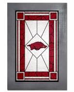 Arkansas Razorbacks Stained Glass with Frame