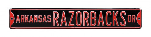 Arkansas Razorbacks Street Sign